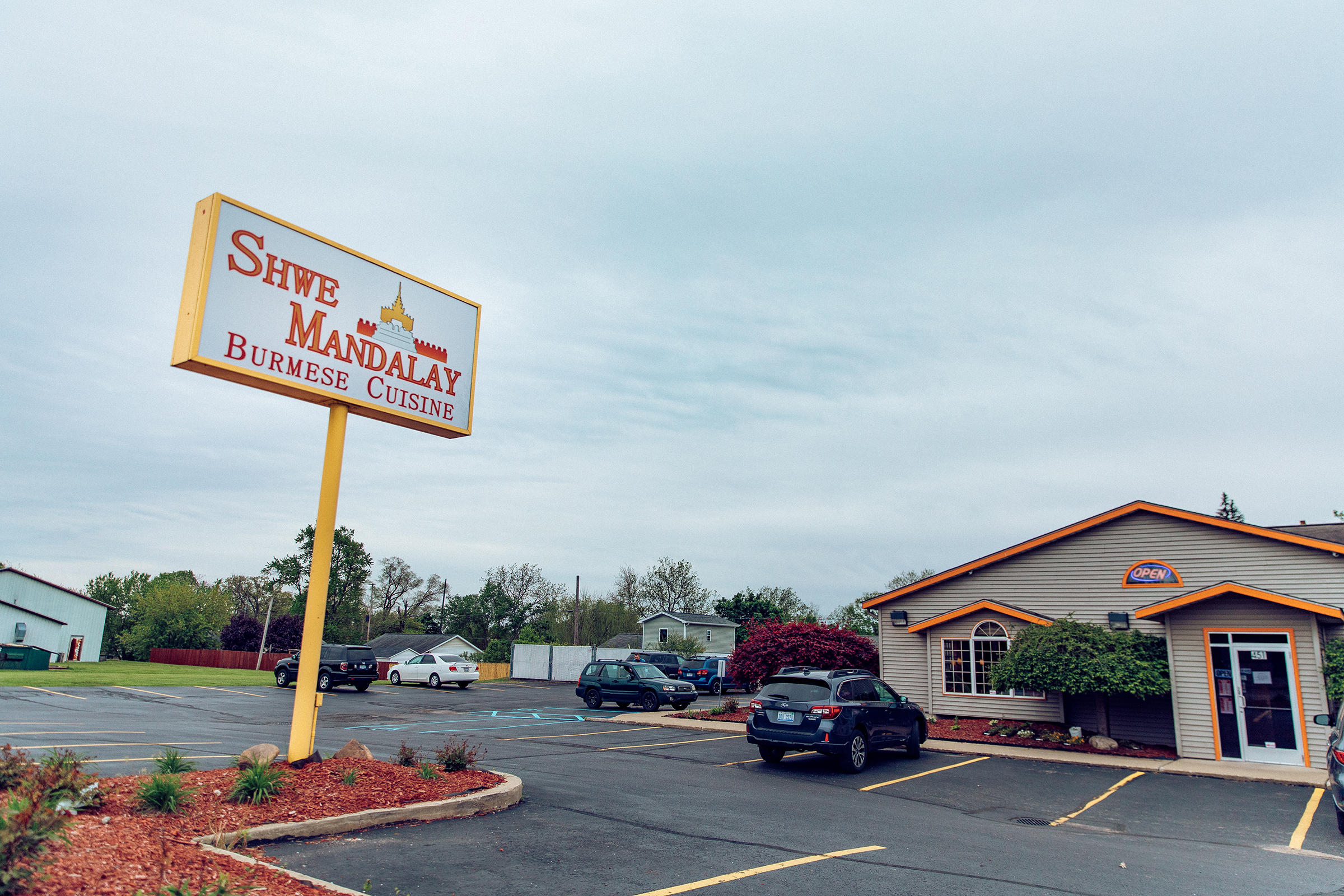 The Shwe Mandalay Burmese Cuisine restaurant in Battle Creek, Michigan.