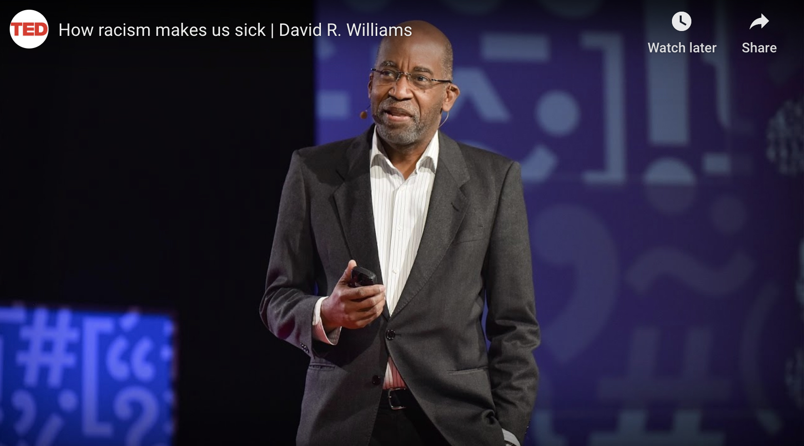 Dr. David Williams speaking at a TED Talk.