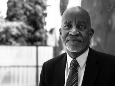 Black and white photo of Dr. David R. Williams, sociologist and chair of the Department of Social and Behavioral Sciences at Harvard University and a member of W.K. Kellogg Foundation's Solidarity Council on Racial Equity.