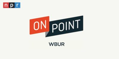 Logo graphic of the podcast radio show, On Point.