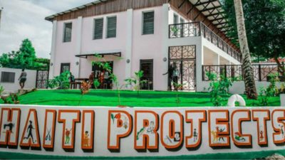 The front view to the entrance of the Haiti Projcets' Community Library